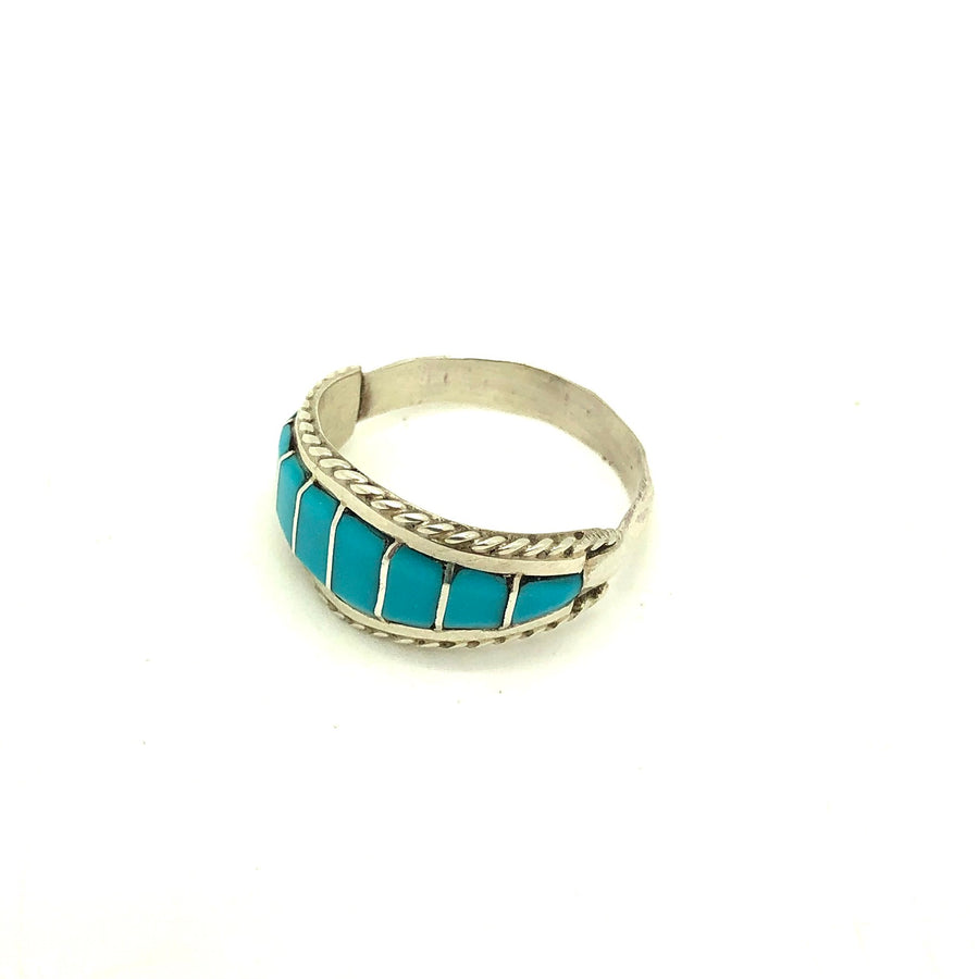 Turquoise Sky Inlay Ring