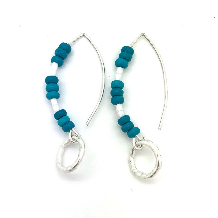 Beaded  Waters Earrings