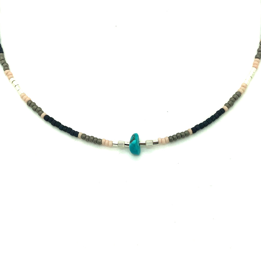 Matte Beaded Necklace