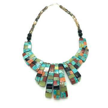 Reversible Inlay and Shell Necklace