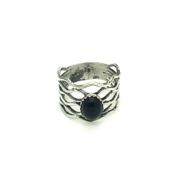 Black Onyx Lace Ring