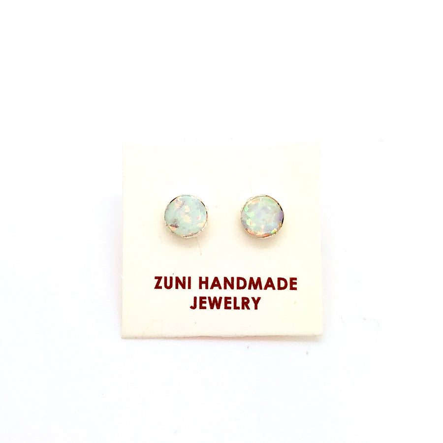 White Opal Starry Stud