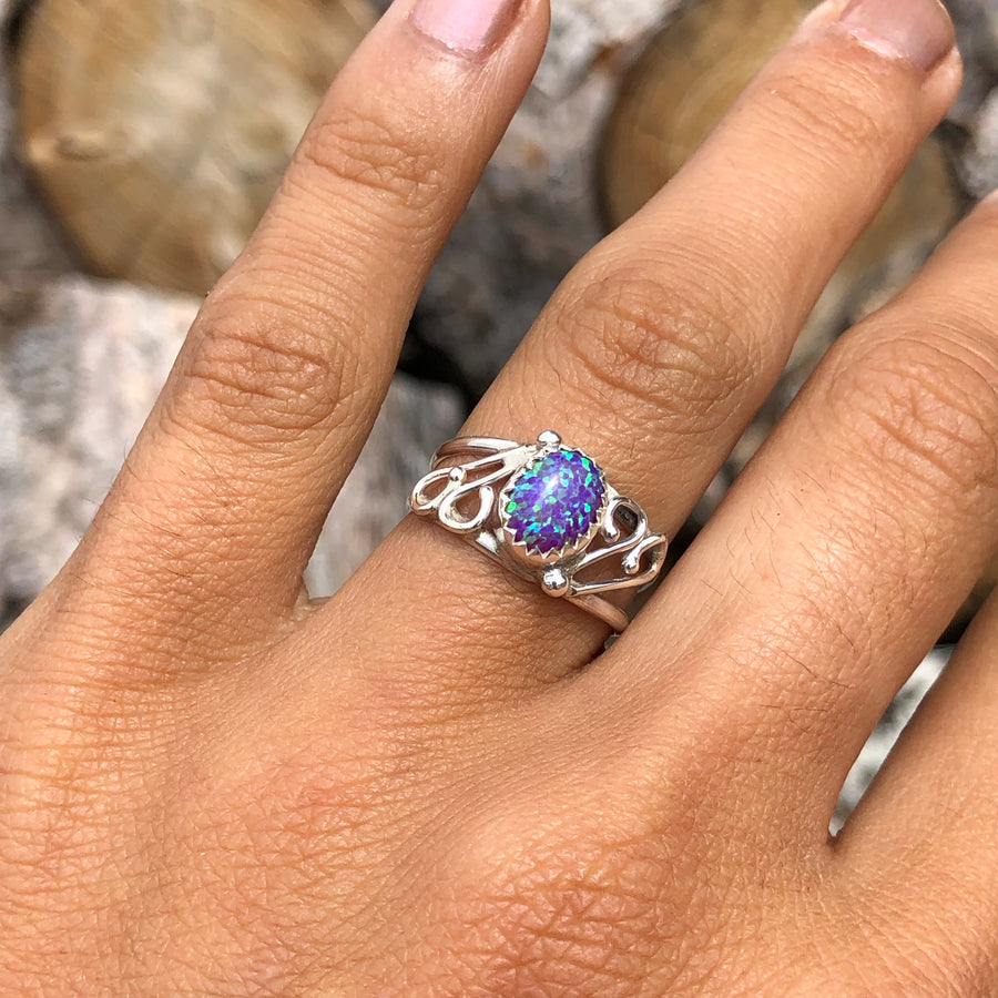 Purple Opal Wind Ring