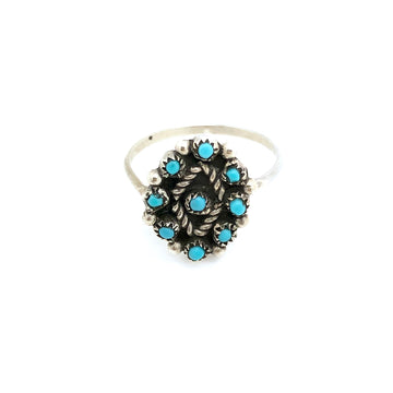 Zuni Turquoise Diamond Ring