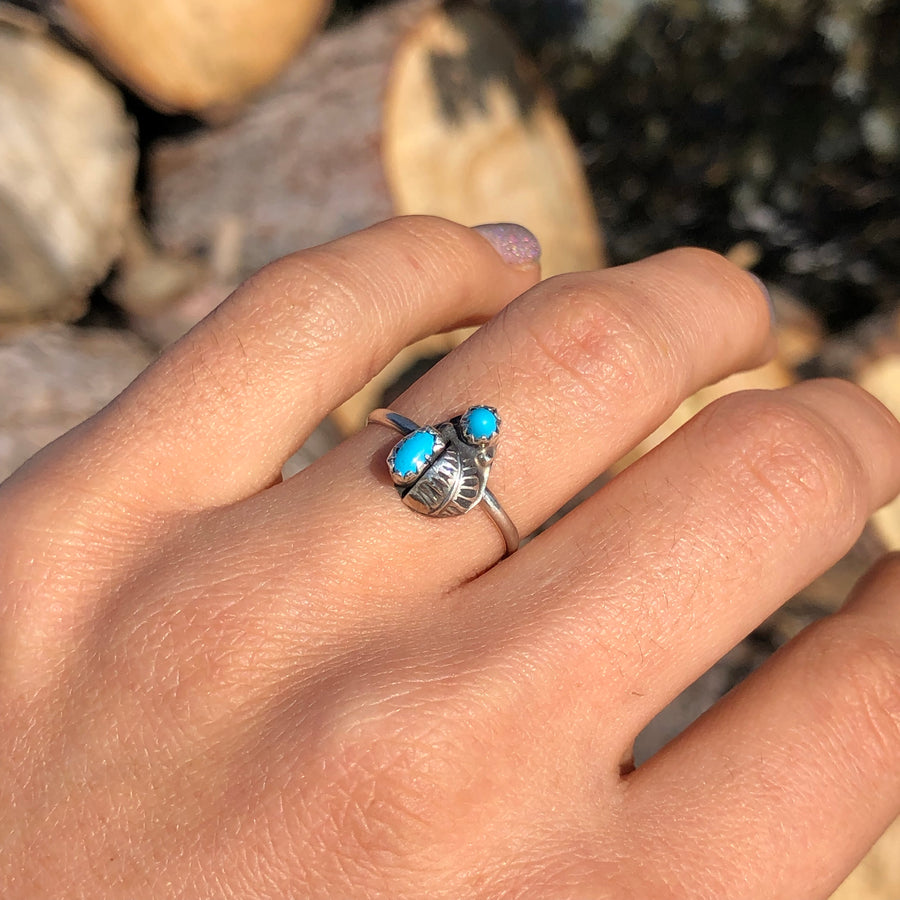 Turquoise Two Spotted Ring