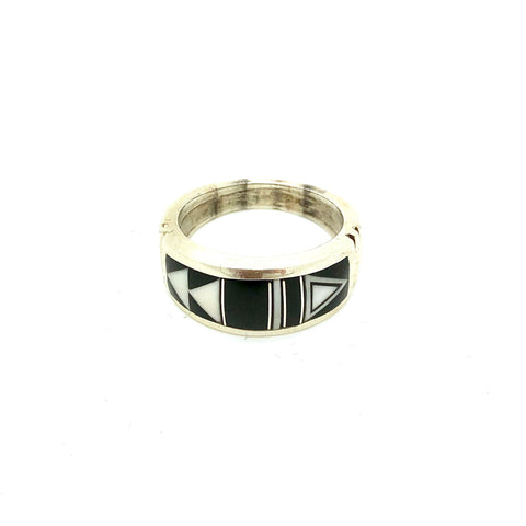 Black Onyx and White Buffalo Ring