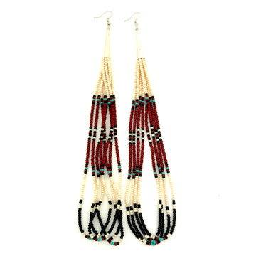Beaded Mesa Earrings