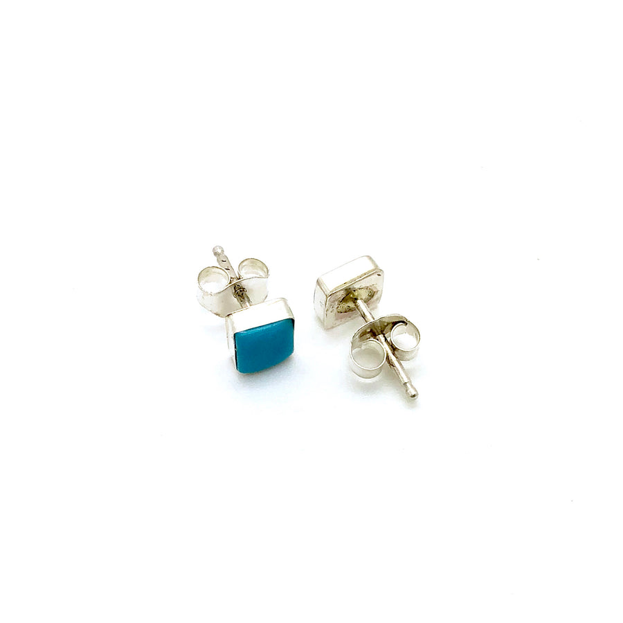 Square Turquoise Stud Earring