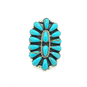 Dusty Turquoise Cluster Ring