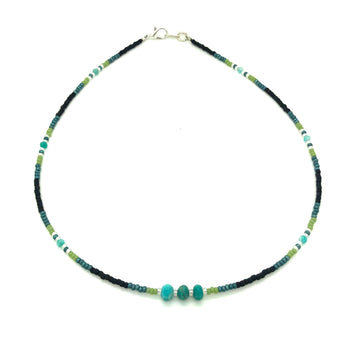 Dainty Beaded Waters Necklace