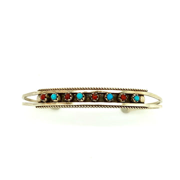 Coral and Turquoise Dot Bracelet