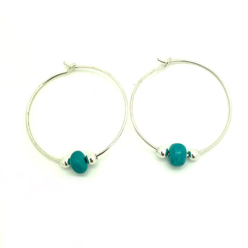 Dainty Turquoise Hoops
