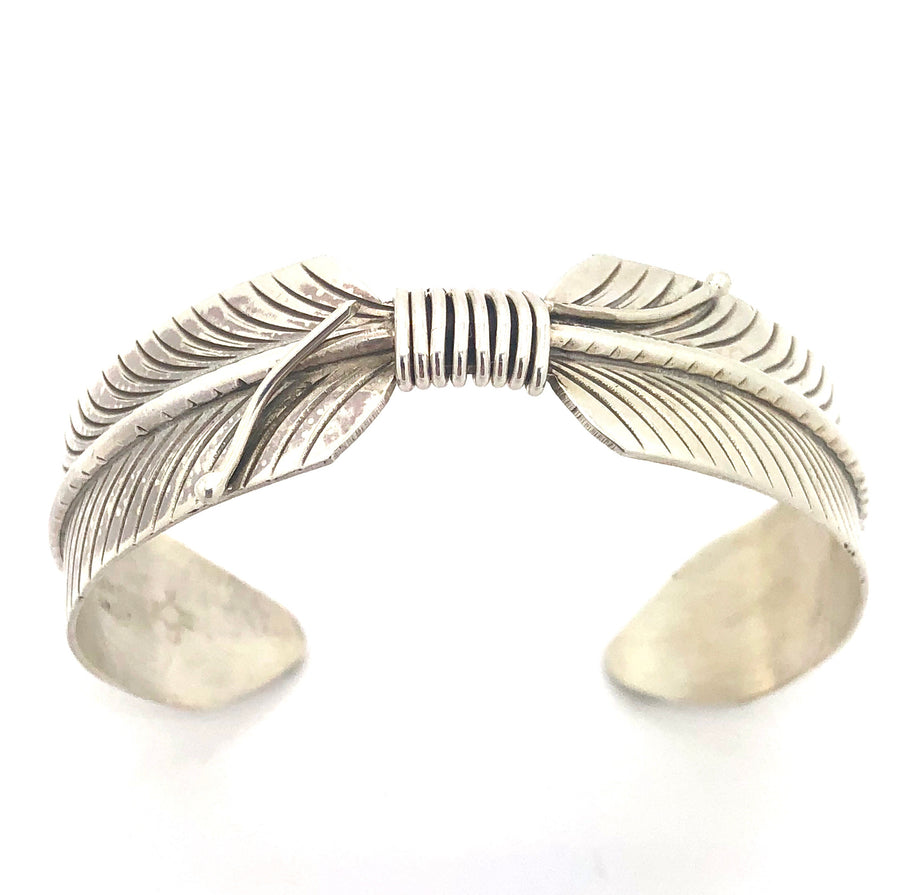 Sterling Silver Feather Cuff