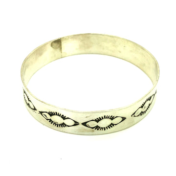 Sterling Southwestern Bangle