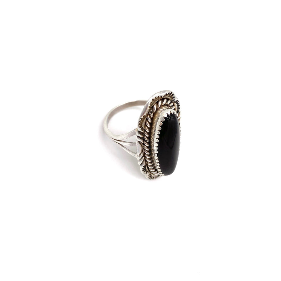 Dusty Black Onyx Ring
