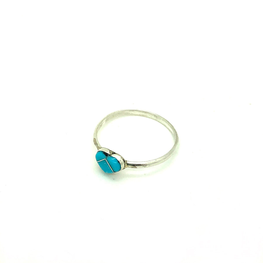 Dainty Turquoise Heart Ring
