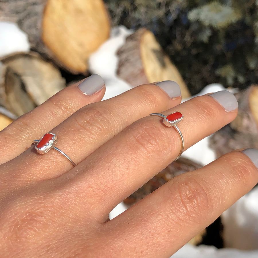 Vertical Coral Ring