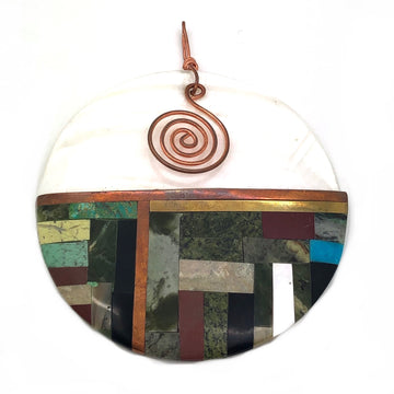 White Shell Inlay Pendant