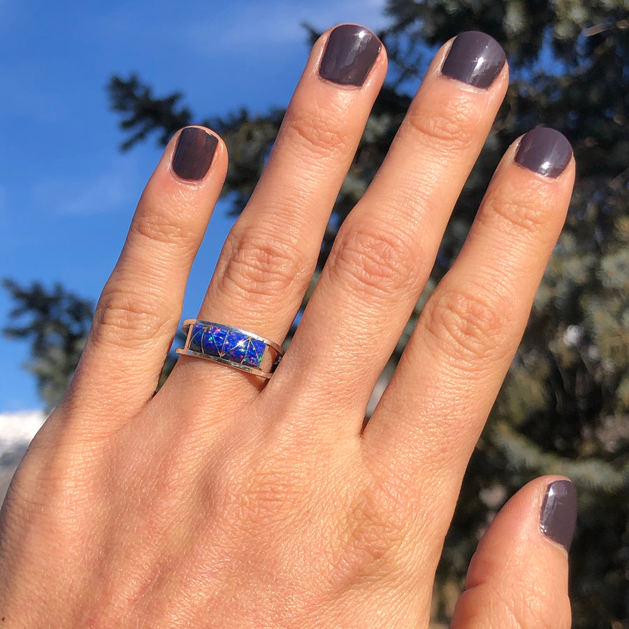 Blue Opal Midnight Skies Ring