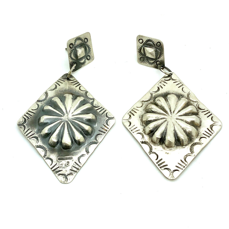 Sterling Concho Earrings