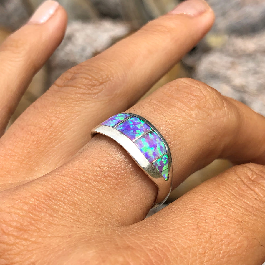 Light Purple Opal Band