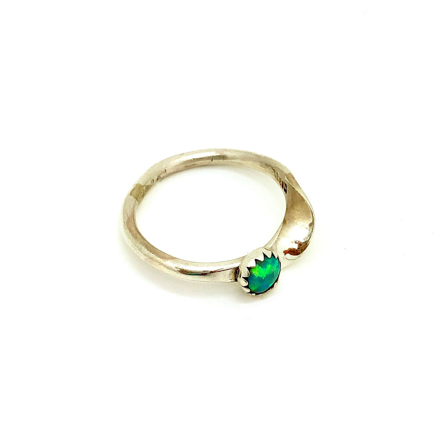 Dainty Green Opal Ring