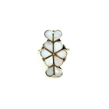 White Shell Inlay Ring