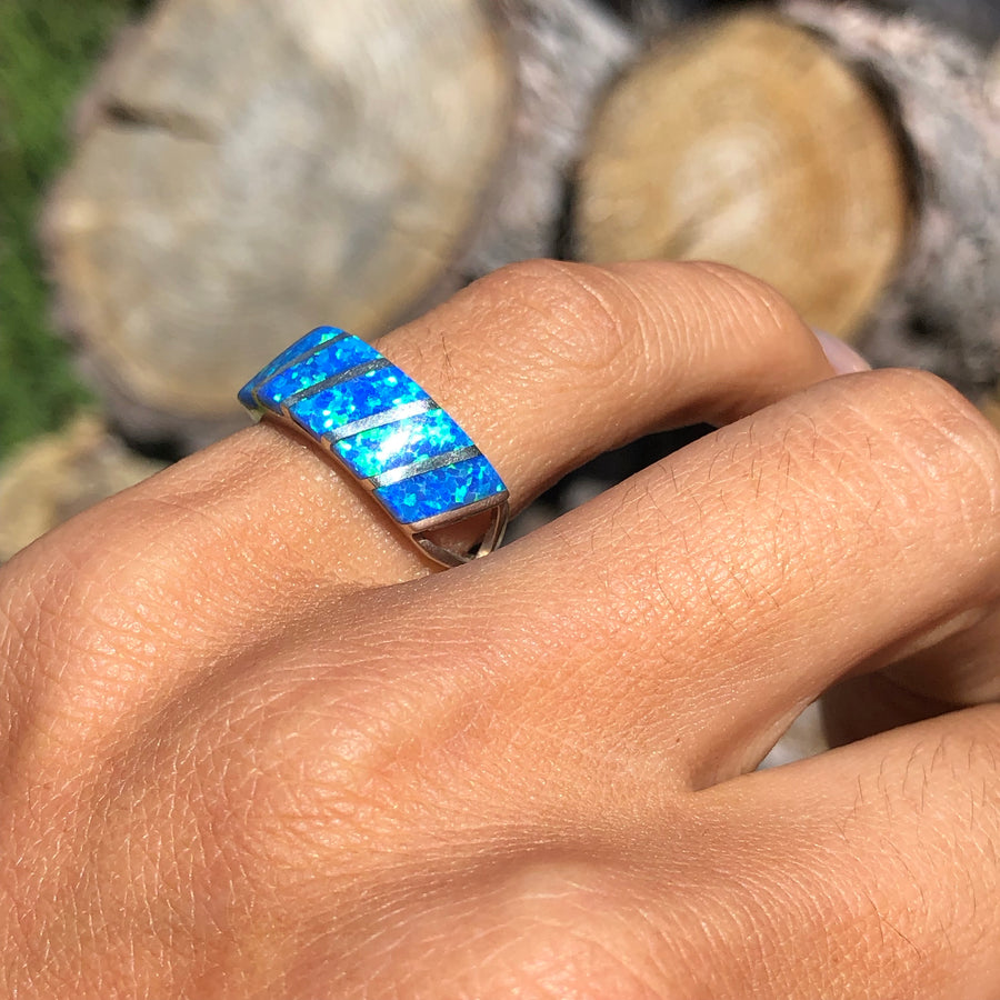 Blue Water Opal Band
