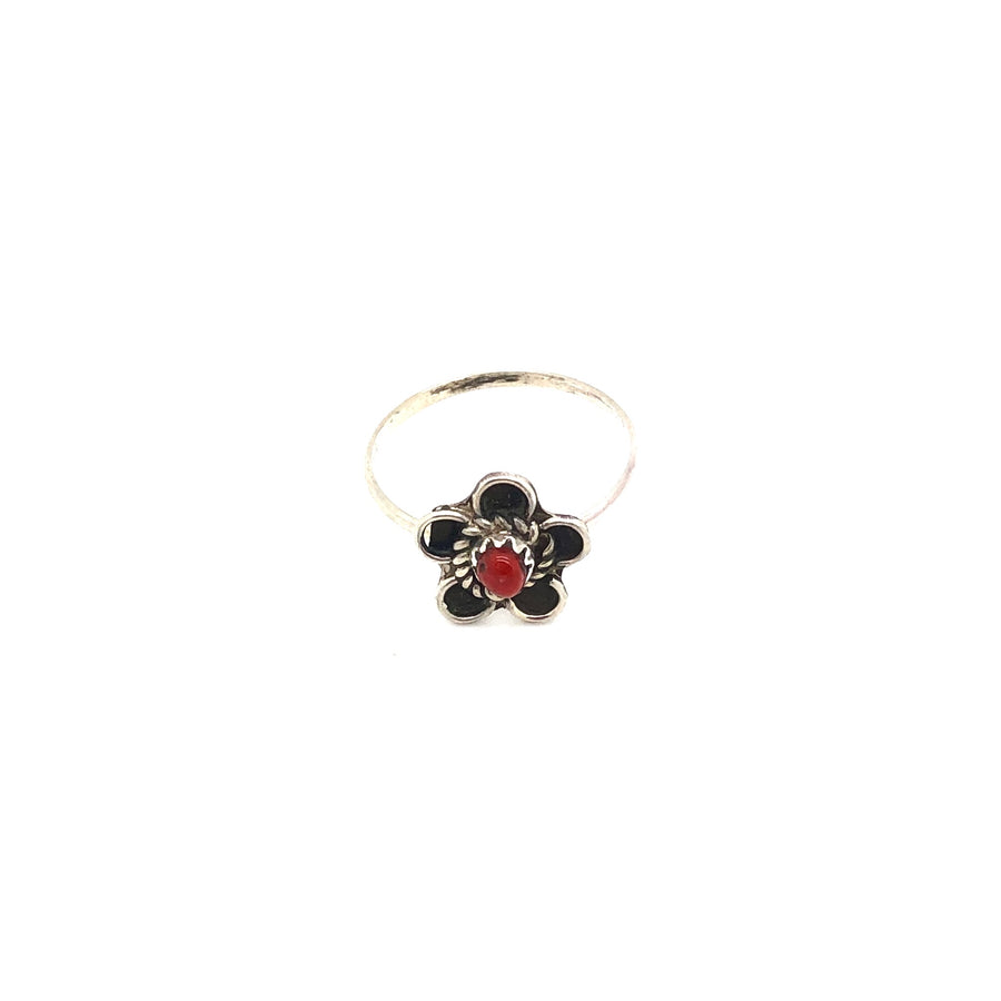 Dainty Coral Flower Ring
