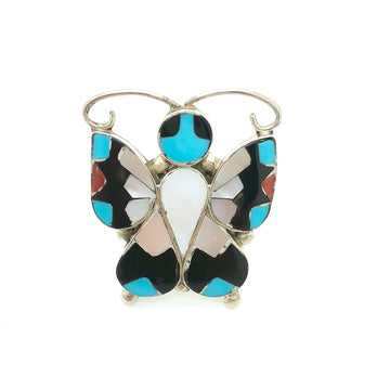 Inlay Butterfly Ring