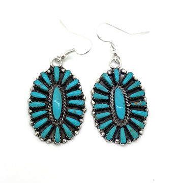 Turquoise Desert Cluster Earrings
