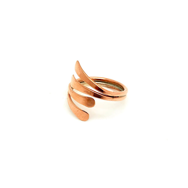 Double Stacked Copper Ring