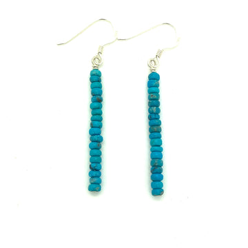 Dainty Turquoise Bar Earrings