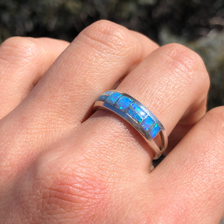 Periwinkle Blue Opal Band