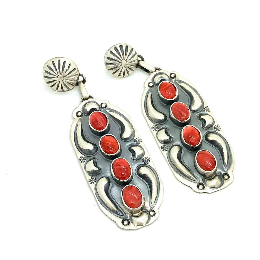 Spiny Oyster Desert Earrings