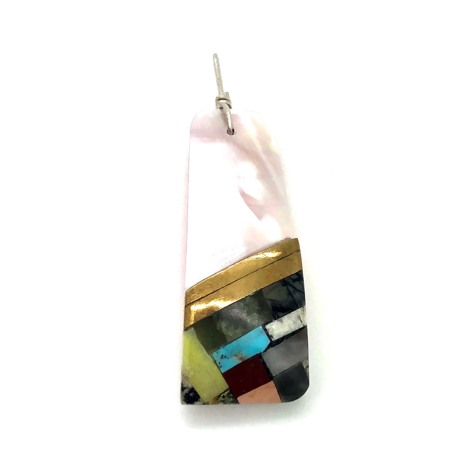 Pink Shell Inlay Pendant