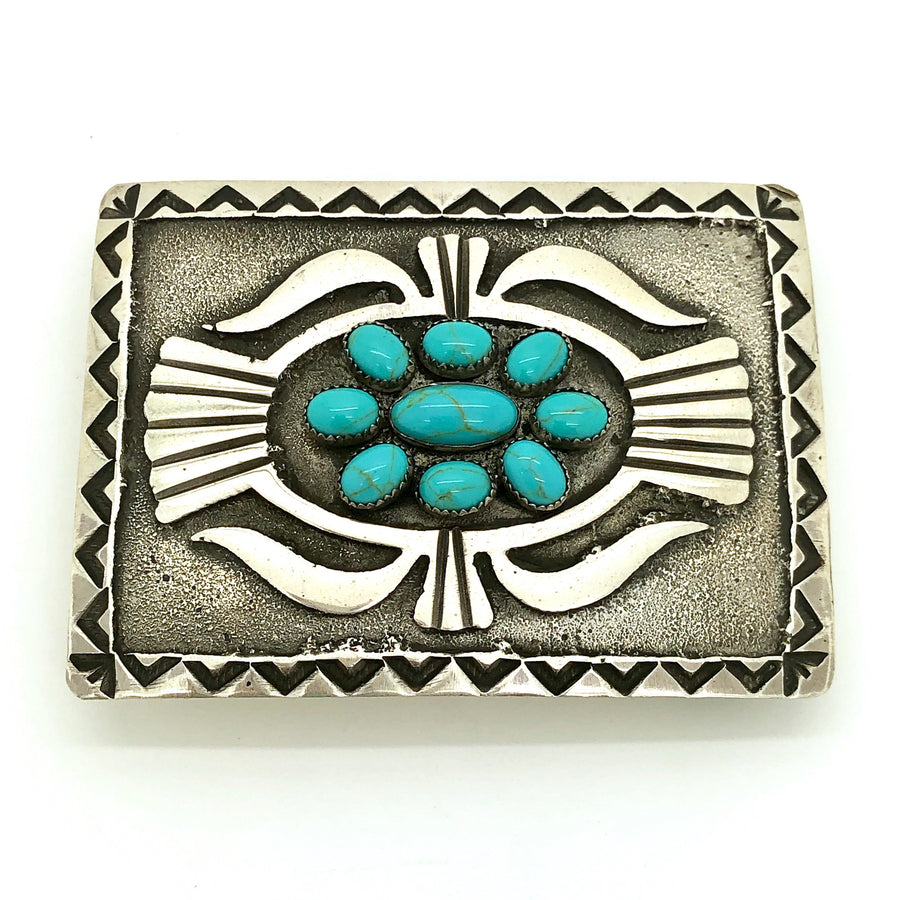Turquoise Cluster Belt Buckle