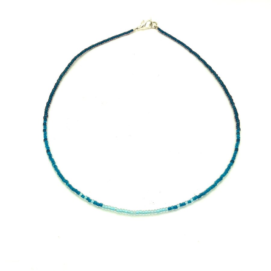 Dainty Ombré Blue Necklace