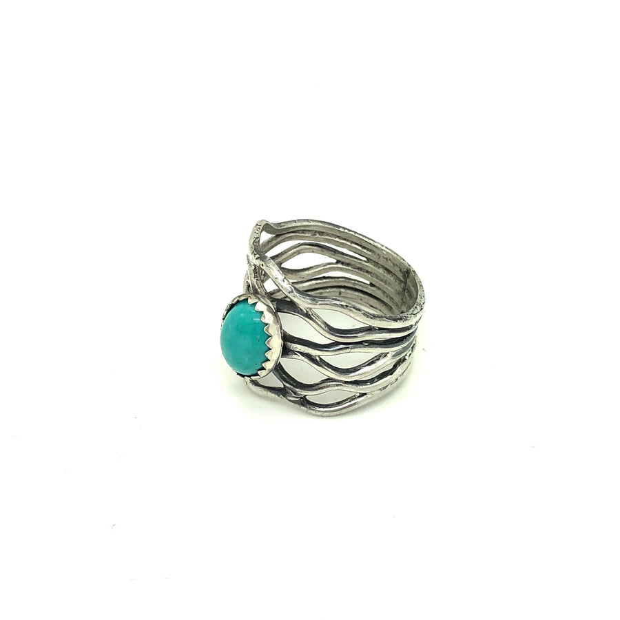 Turquoise Lace Ring