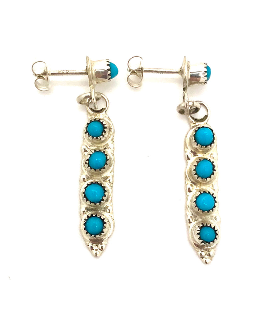 Turquoise Dot Earrings
