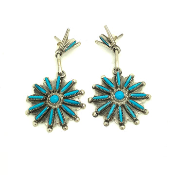 Turquoise Sun Earrings