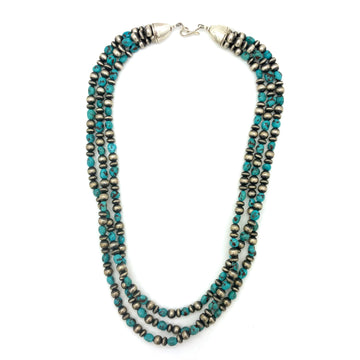 Turquoise and Navajo Pearls Necklace
