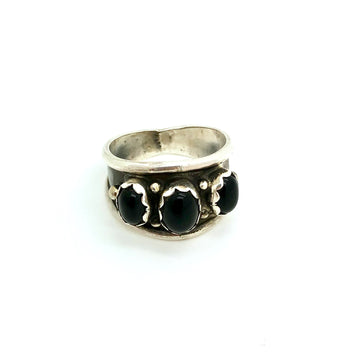 Triple Black Onyx Ring