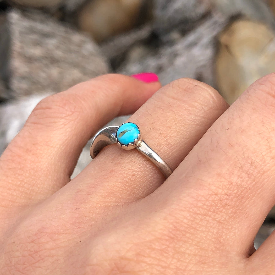 Dainty Turquoise Wind Ring