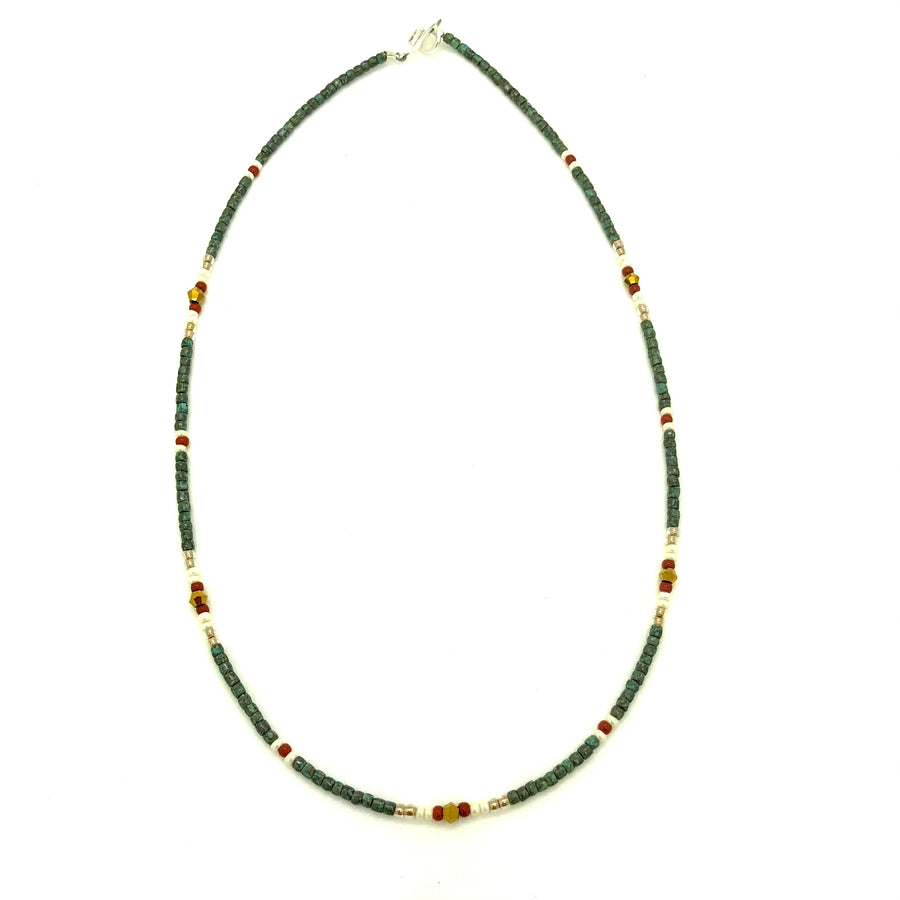 Dainty Cacti Desert Beaded Necklace