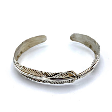 Dainty Sterling Feather Bracelet