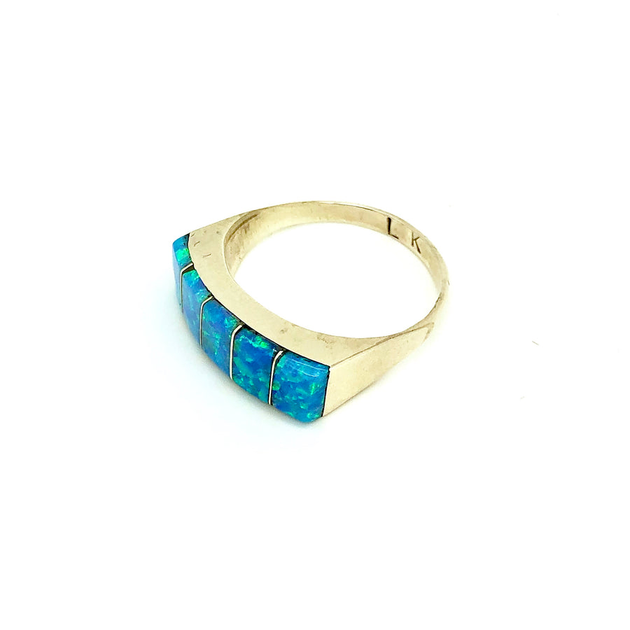 Starry Blue Opal Ring