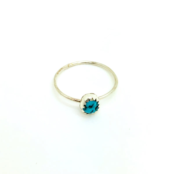 Dainty Turquoise Nugget Ring