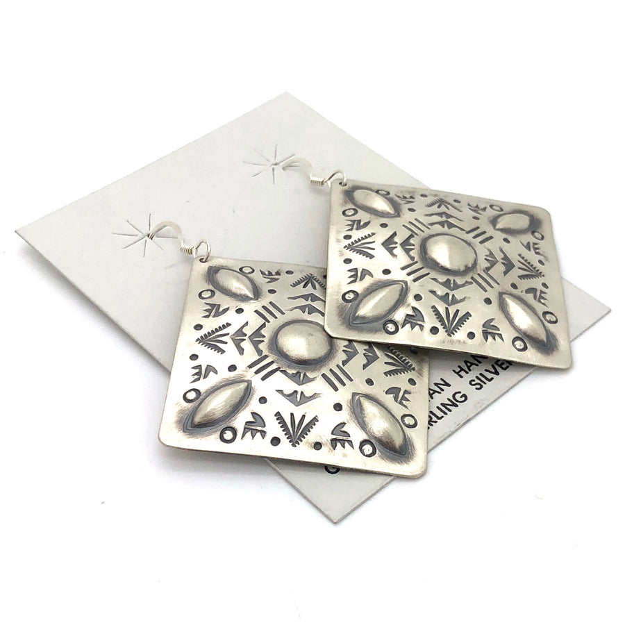 Stamped Sterling Silver Earrings