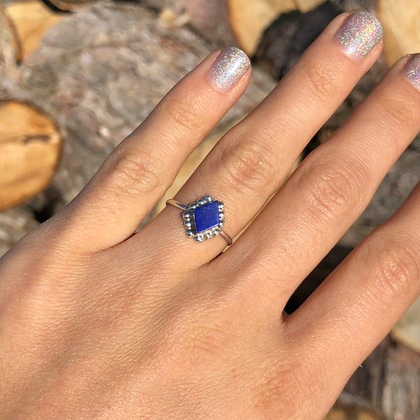 Lapis Diamonds Ring